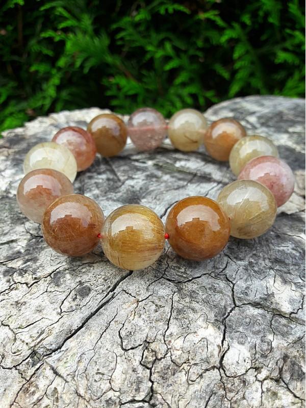 Rutile quartz bracelet