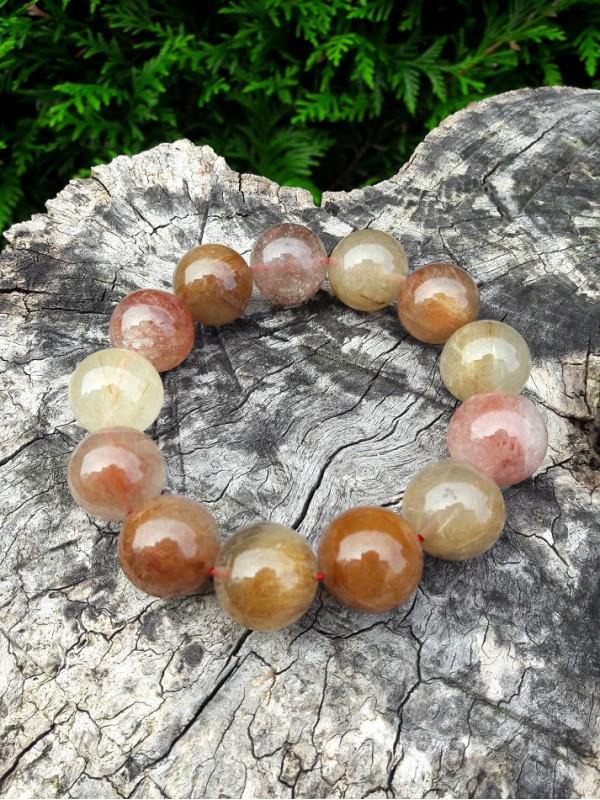Bracelet en quartz-rutile