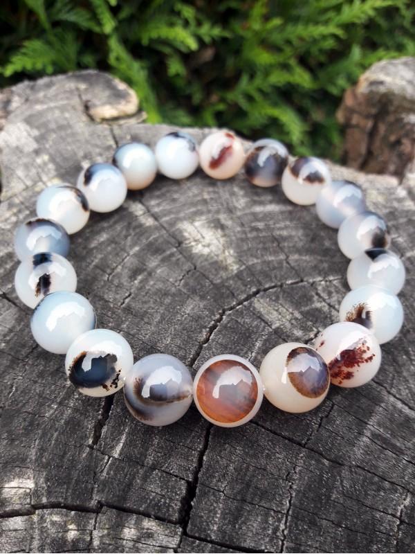 Dendritic agate bracelet