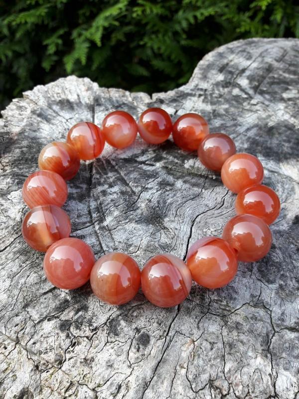 Bracelet en agate rouge