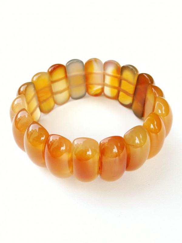 "Bracelet ""Yellow pumpkin"""