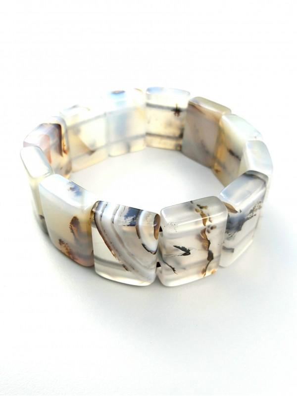 Dendritic chalcedony Bracelet
