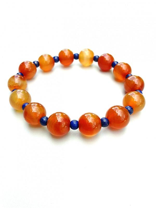 Bracelet en cornaline orange