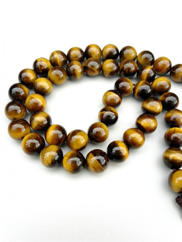Yellow tiger's eye necklace 8mm