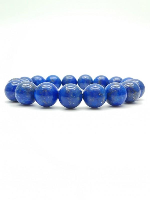 Bracelet en Lapis-lazuli 12mm