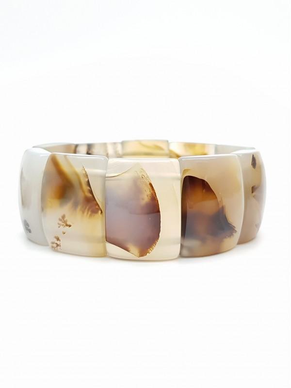 Bracelet en agate dendritique