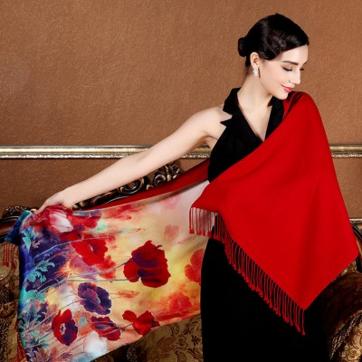 Brushed silk stoles