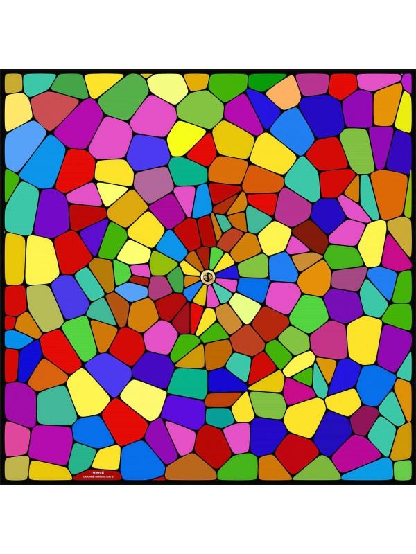 Silk square Vitrail